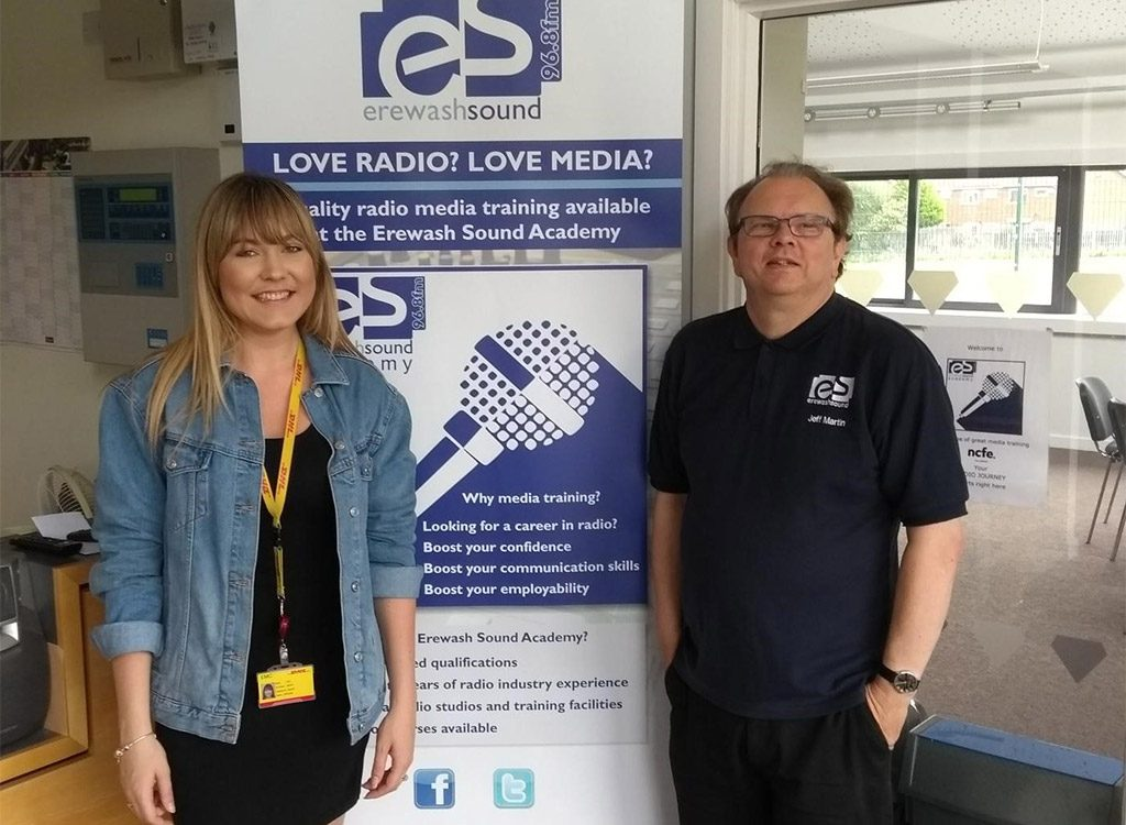Erewash Sound's Jeff Martin and DHL's Nicky Donovan
